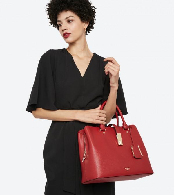 25624695ba37 Diella Triple Compartment Unlined Shopper Bag - Red