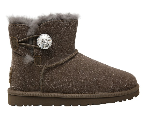 664caf991a2 Ugg Mini Bailey Button Bling Serein Boots - Grey