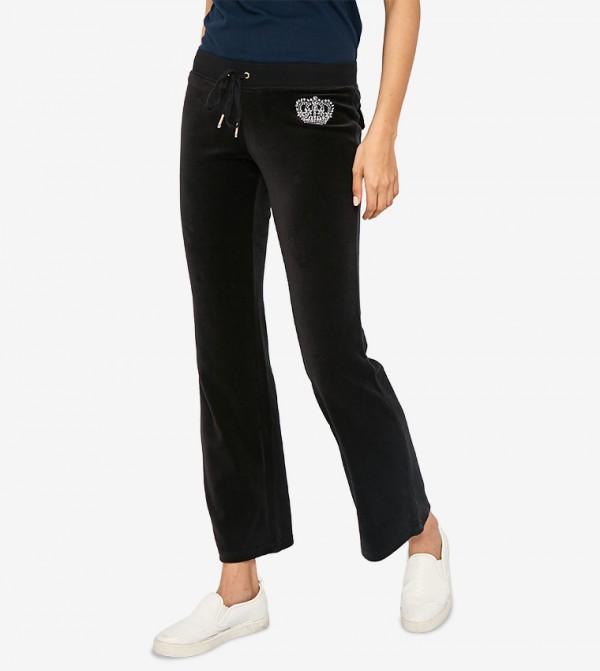 4061d0a3 Juicy Couture Juicy Crown Velour Del Rey Pant - Black