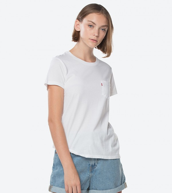 e2f57fe35fe8 Levi's Perfect Pocket Short Sleeve T-Shirt - White 18672-0037