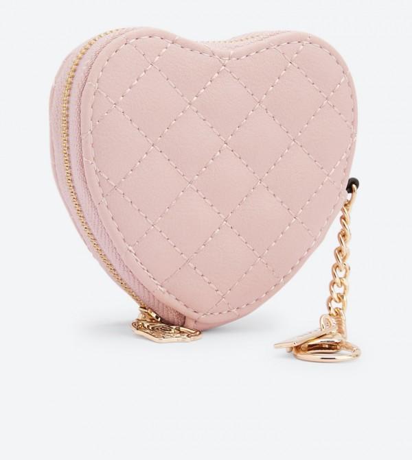 5bf81869f05 Sevaemma Heart Shaped Quilted Purse - Light Pink 23311001-SEVAEMMA