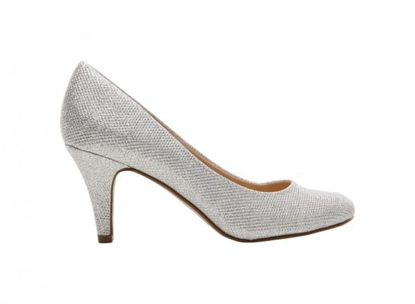 Buskey Silver Mid Heel
