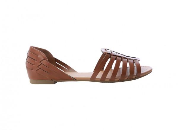 حذاء بني مسطح - ديماتي