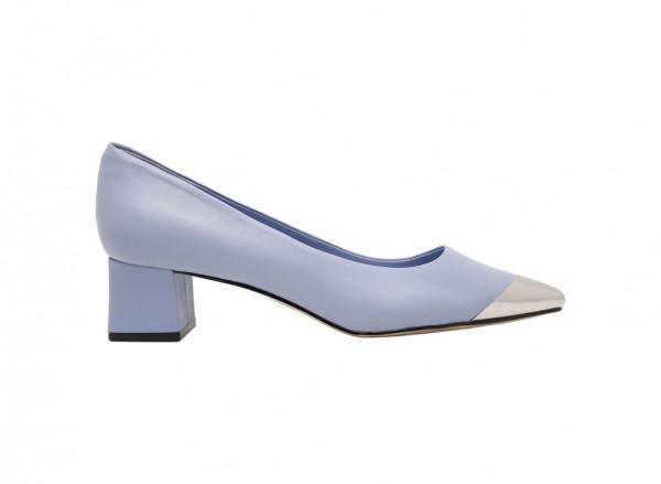حذاء متوسط الكعب أزرق