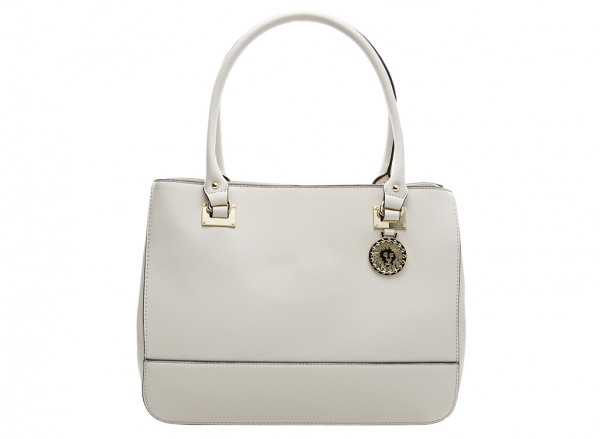 Anne Klein New Recruits Handbag Satchel Lg For Women - Man Made White-AKAK60365970-BEIGE