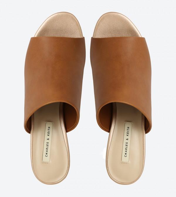 6015617fc97 Lucite Heel Mule Sandals - Camel