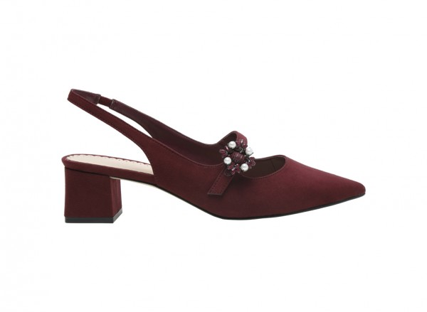 Burgundy Medium Heel-CK1-60900033