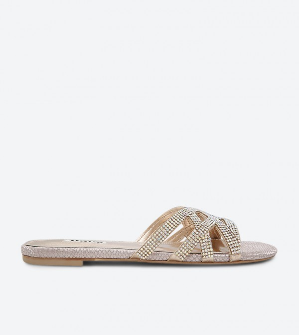 Diamante London Dune Blush Newark Sandals Di Slider Y7v6gfby