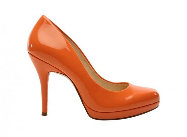 Kristal Orange Mid Heels