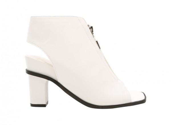 White Mid Heel