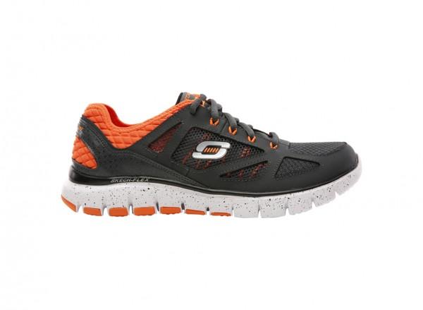 حذاء سكيتش فليكس لون رصاصي وبرتقالي
