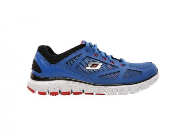حذاء سكيتش فليكس لون أسود وأزرق