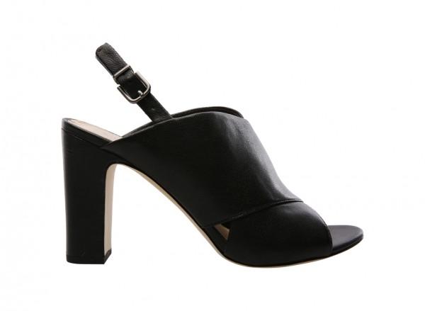 V-Amya Black Mid Heel