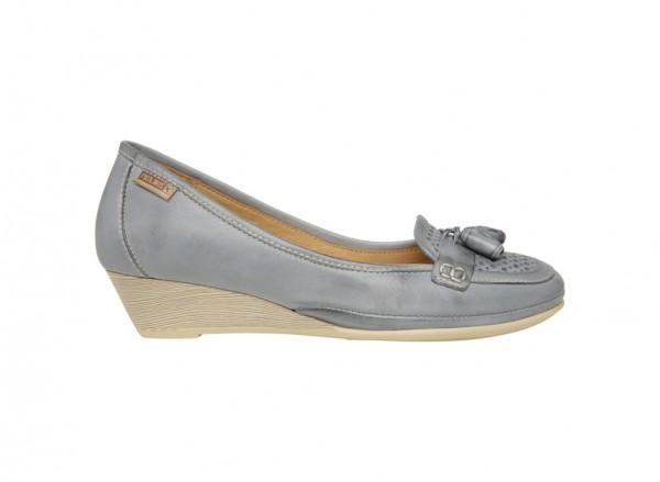 حذاء كعب سميك رمادى