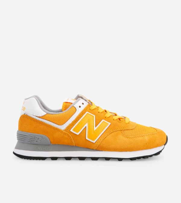 1eeffbc85e0 New Balance 574 Lace Up Closure Sneakers - Yellow WL574UNB